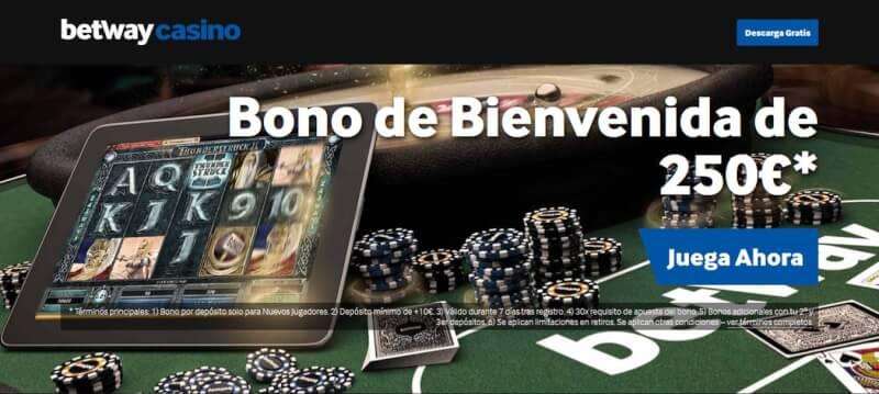 El bono de bienvenida de Betway te da hasta 250 € por tu primer ingreso