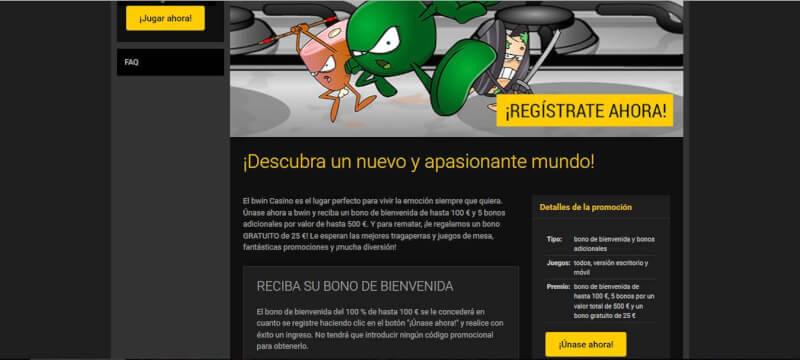 Con los bonos de bwin casino, puedes acumular 625 €