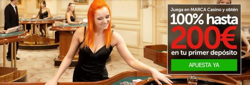 marca apuestas casino live bono