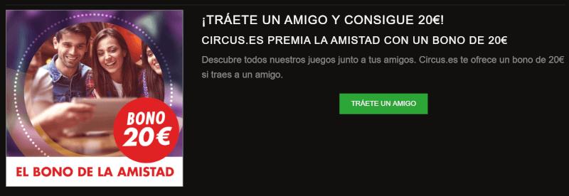 Circus Casino código promocional 2018