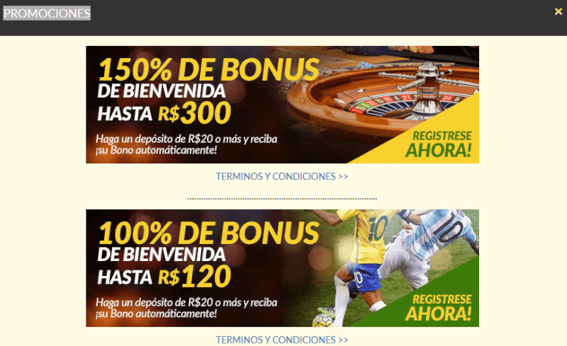 Alegriabet bonus de bienvenida casino