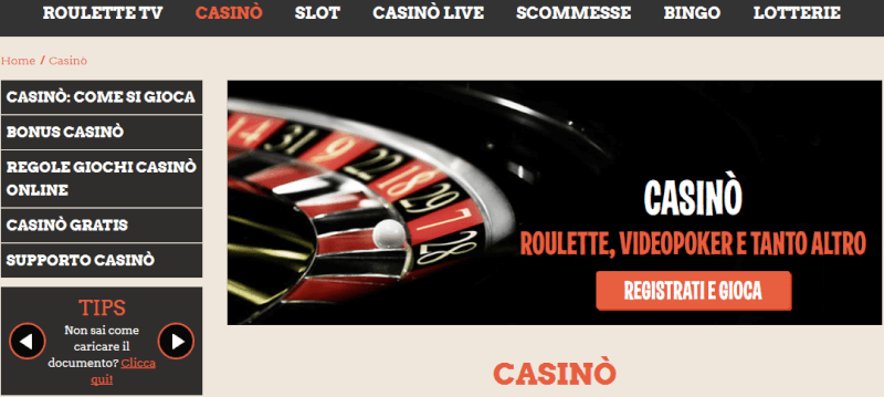Leovegas Italia casino