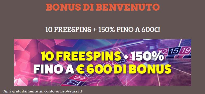 Código Promocional Leovegas Casino