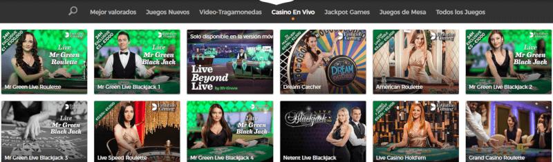 Mr. Green juegos de casino