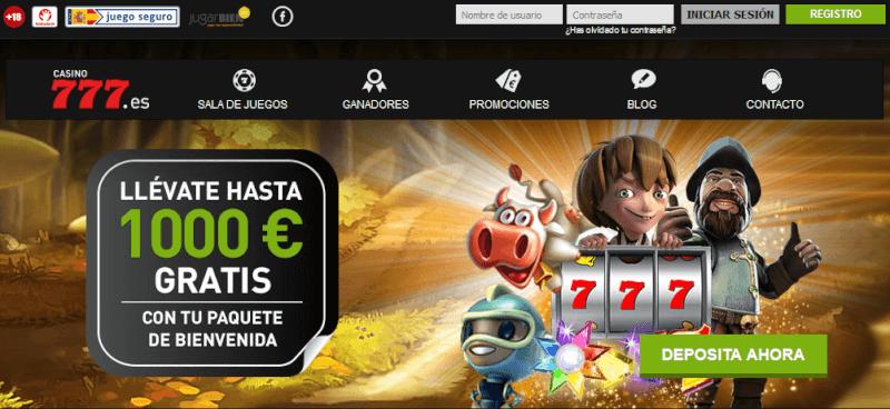 Código Promocional Casino777