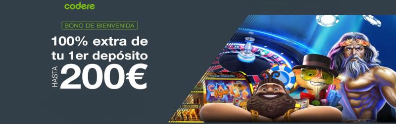 bono bienvenida codere casino