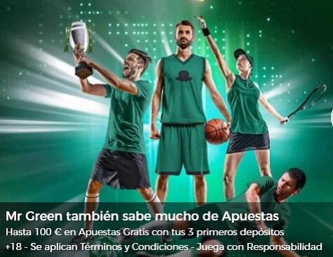 Mr Green Bono de Bienvenida Apuestas Deportivas